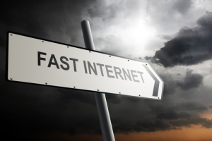 fast internet sign